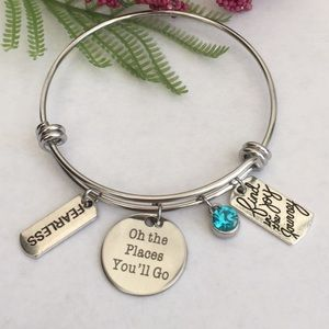 """Jewelry - NWT """" oh the places you'll go"""" charm bracelet"""